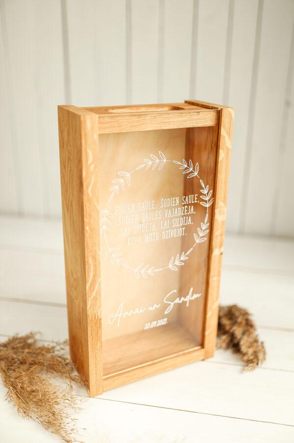 LUX kaste ar stikla vāka druku