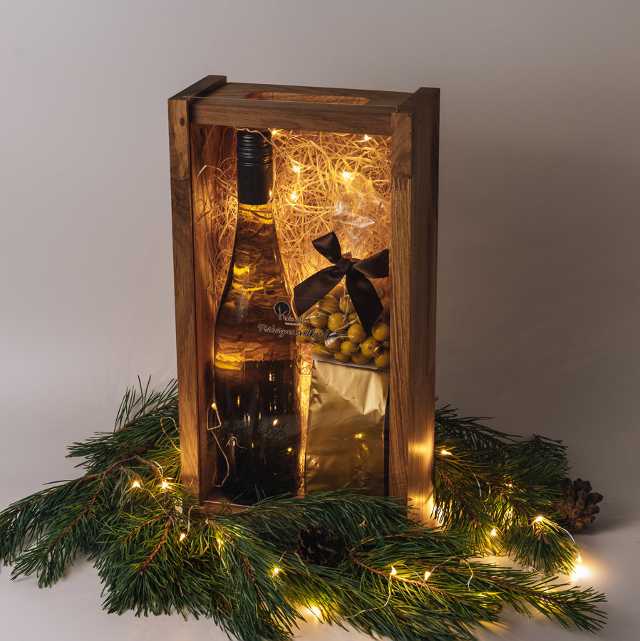 LUX vīna, saldumu kaste ar LED