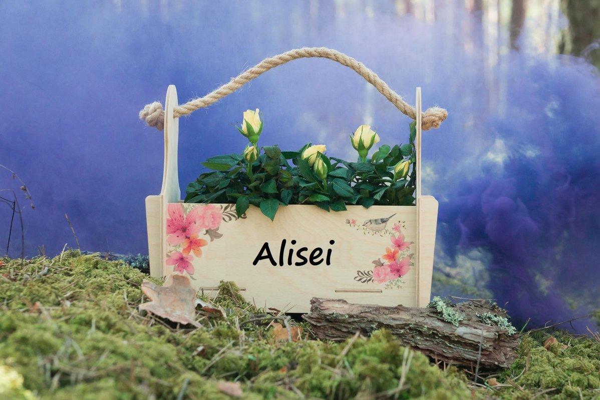 Personalizēta ziedu kaste